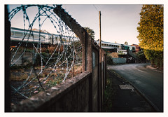 Dereliction, Concrete and Razor Wire (Gingydadtog) Tags: blackcountry chilternrailways class68 drs diesel langleygreen locomotive passengertrain sandwell