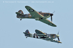 2978 LF363 AB910 Andy P (photozone72) Tags: bournemouth airshows aircraft airshow aviation canon canon7dmk2 canon100400f4556lii 7dmk2 bbmf raf warbirds wwii rafbbmf hurricane lf363 spitfire ab910