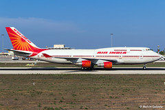 Air India Boeing 747-437  |  VT-EVB  |  LMML (Melvin Debono) Tags: air india boeing 747437 | vtevb lmml msn 28095 melvin debono spotting canon 600d 18135mm plane planes airplane airport aviation aircraft airways airlines malta mla 747