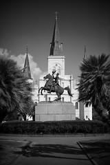New Orleans (michael.mu) Tags: frenchquarter leica neworleans noctilux m240 blackandwhite bw monochrome jacksonsquare andrewjackson louisiana