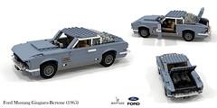 Ford Mustang Concept Giugiaro-Bertone (1965) (lego911) Tags: ford mustang 1965 1960s classic motor company concept giugiaro bertone coupe v8 auto car moc model miniland lego lego911 ldd render cad povray usa american italian coachbuilt oneoff