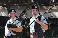 Royal Canadian Navy HMCS York and military pipeband (Can Pac Swire (away for a bit)) Tags: toronto ontario canada canadian city cultural eastern european festival ethnic heritage roncesvalles polish 2018 forces arm navy pipe band pipeband bagpipe scottish highland highlanders 2018aimg2255 avenue