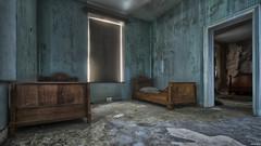 bedroom blues (Strange Artifact) Tags: sony a7r carlzeiss variotessar 1635 f4 fe za oss t8 urbex urbanexploration ue decay derelict abandoned belgium manoir bedroom