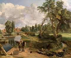 John Constable – Tate Gallery N01273. Scene on a Navigable River (Flatford Mill) (1816-1817) (lack of imagination) Tags: 10001500 animals blog houses johnconstable landscape people river tategallery trees