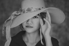 DSC01660 (Sài Gòn - 01665 374 974) Tags: snor hat vintage 135mm portrait black bw