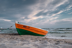 Stormy day (PeterJot) Tags: baltic balticsea landscape nature outdoors poland pomorskie boat clouds day dramaticsky europe fishingboat hel marine sea sky storm travel