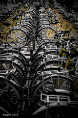 I want to ride my .... (ericbaygon) Tags: bicycle cycle wheel yellow jaune rochelle nikon fx d750 parking