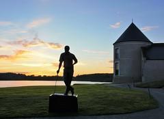 Nick Faldo. (carolinejohnston2) Tags: sunset statue fermanagh northernireland golf evening hotel lake lough water