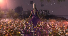 Lilac Rose (RoseThornberry) Tags: secondlife second life sl vr virtual reality photography edit magical fantasy exploring art scenery whimsical looking glass dreamy avatar portrait glow glowing surreal sunset stars flowers magic dust