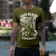 God Bless America. Eagle on Flag. T-Shirt. (Sons of Liberty Tees) Tags: 2a 2ndamendment apparel clothing colddeadhands comeandtakeit conservative donttreadonme gunrights guns igmilitia instagood instastyle libtards menfashion mensfashion mensstyle menstyle menswear merica molonlabe murica patriot patrioticshirts patriots sonsoflibertytees tshirts teaparty wethepeople