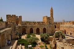 Jerusalem / Citadel and Minaret (Pantchoa) Tags: jérusalem israël ruines pierres citadelle tour minaret arches arcades arbres ciel oliviers fortification murailles palestine moyenorient procheorient