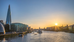 Sunset over London - London Bridge with The Shard (patuffel) Tags: shard hms belfast london bridge tower river thames sunset leica m10 28mm summicron townhall golden hour skyline set sun boat tv