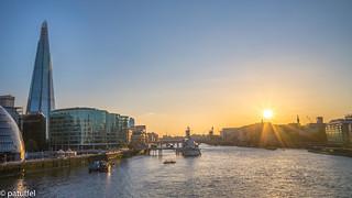Sunset over London - London Bridge with The Shard
