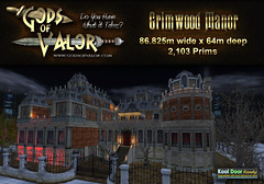 Gods of Valor - Grimwood Manor Ad (Filipa Thespian) Tags: secondlife manor mansion castle vampire witch undead nightclub dungeon asylum halloween creepy scary scarey haunted all hallows eve