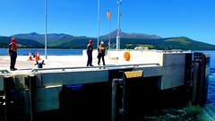 Scotland West Highlands the paddle steamer Waverley docking at the new pier at Brodick island of Arran for the first time gently does it video 1 July 2018 by Anne MacKay (Anne MacKay images of interest & wonder) Tags: scotland west highlands clyde paddle steamer waverley dock docking dockers workmen new pier brodick island arran 1 july 2018 video by anne mackay