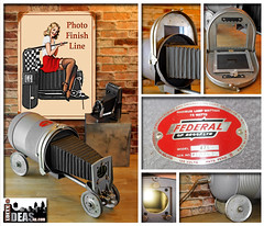 Loftyideas4u (loftyideas4u) Tags: photofinishline check out this vintage federal photo enlarger upcycled oneofakind race car repurposed antique collectable tablelamp is perfect industrial steampunk light for mavcave or camera enthusiast carlamp available forsale ebay etsy loftyideas4u stores
