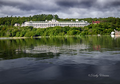 The Grand Hotel - Mackinac Island (kweaver2) Tags: kathyweaver mackinacisland mi lakehuron michigan grandhotel ferry reflection