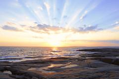 Sundown (annemwo) Tags: sundown sunset seaside coast water evening dusk tjøme norway ocean sun clouds autumn september