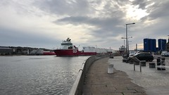Skandi Bergen - Aberdeen Harbour Scotland - 18/8/18 (DanoAberdeen) Tags: skandibergen danoaberdeen candid amateur 2018 psv gb uk abdn abz tug offshore seaport docks seafarers water clouds bluesky aberdeen harbour aberdeenharbour aberdeenscotland oilships pocraquay northeastscotland northseasupplyvessels northseacargoships supplyships vessels boats scotland oil maritime geotagged danophotography iphonrvideo iphone8plus riverdee northeast scotch scottish cargoships tugboat tanker craft boat autumn winter summer spring port wasser schip merchantnavy merchantships workboats sailor mpeg video iphone iphonevideo 4k hd 1080p oilrigs shipspotters