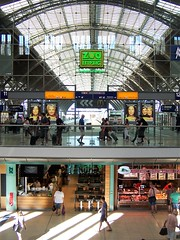 Station above, shops below - Leipzig (TeaMeister) Tags: europe train rail seat61 interrail germany leipzig deutschebahn railwaystation bach eastgermany ddr europeanunion eu brexit goethe faust architecture