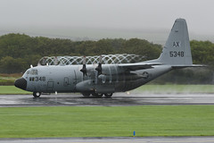 165348 Lockheed C130T Hercules EGPK 18-08-18 (MarkP51) Tags: 165348 lockheed c130t hercules usn usnavy military transport prestwick airport pik egpk scotland airliner aircraft airplane plane image markp51 nikon d7200 aviationphotography nikon70200f4vr
