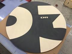 DR custom table tops (STYKKA & COTTER) Tags: dr custom lasercutting cnc logo danmarks radio office round desk table stykka cotter