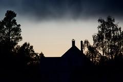 Evening light (Bullpics) Tags: cloud sky nordic scandinavia norway oslo naturallight outdoor nature tree silhouette night dusk evening d7100 nikon bullpics house roof chimney