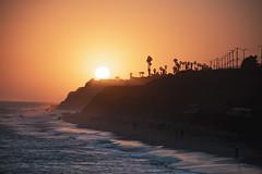 Leo Carillo Sunset (hitmanfre1) Tags: beach sun sunset wave waves nikon d7200 california southerncalifornia socal los angeles la losangeles losangles palm palmtree tree malibu malibubeach water ocean seascape cliff cliffs orange sea sky summer mountain
