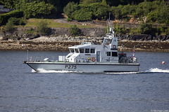 HMS Raider, P275; the Holy Loch, Firth of Clyde, Scotland (Michael Leek Photography) Tags: ship boat patrolship patrolvessel patrolboat p2000 archerclass hmsraider raider hmnbclyde hmnb hmsneptune faslane firthofclyde holyloch argyllandbute argyll cowal cowalpeninsula loch scotland scottishcoastline scottishlandscapes scotlandslandscapes scottishshipping westcoastofscotland westernscotland royalnavy rn nato britainsnavy britainsarmedforces warship workingboat workboat gareloch clyde