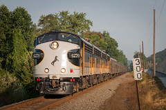 Buffalo Wild (marko138) Tags: 955 buffaloline dauphin emd funit f9a mp300 ns4270 norfolksouthern ocs pennsylvania summer businesstrain locomotive mainline morning railfan railroad railroadphotography train
