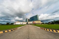 Southwoods Mall (AllanAnovaPhotos) Tags: binan laguna philippines southwoods mall southwoodsmall green clouds skies sky blue road fisheye a6500 sony