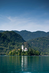 Bled island (Blacklili) Tags: bledlake slovenia church island mountains nature mirror water sailing trees architecture