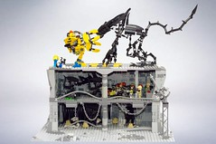 Aliens (BensBuilds) Tags: alien aliens alienqueen ripley xenomorph power loader bishop facehugger egg moc hadleys hope lego colonial marines