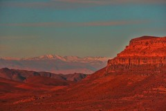Twilight in the Atlas Mountains (David K. Edwards) Tags: twilight sunset red orange mountain atlas moroc morocco africa noise noisy