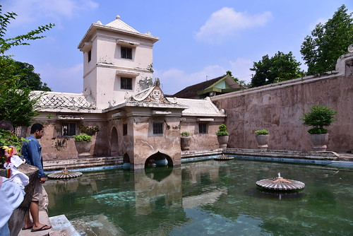 The Taman sari water palace was beautiful in it's own right