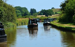 Just passing by (Eddie Crutchley) Tags: europe england cheshire canal outdoor narrowboats boats barge beauty simplysuperb water sunlight leisure greatphotographers