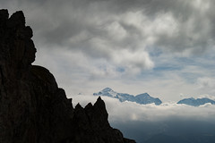 Cloud sandwitch for the mont blanc (anthonyziemski) Tags: montblanc massifdumontblanc alpinisme mountain climbing