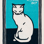 Sitting cat (1917) by Julie de Graag (1877-1924). Original from the Rijks Museum. Digitally enhanced by rawpixel. thumbnail