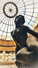 Young woman sitting (vincentag) Tags: paris france statues ceiling gallery