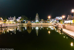 Reflections (Balaji Photography - 5 M views and Growing) Tags: water lights watertank temple tank templetank gopuram vilakku reflections bund people mandapal kulam karaikkal oneplus mobileclick