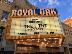 """the the - sold out (brown_theo) Tags: marquee """"mattjohnson"""" """"thethe"""" venue theater """"royaloak"""" detroit michigan concerr band"""
