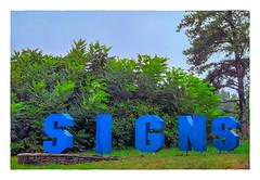 S I G N S (Timothy Valentine) Tags: 2018 0818 large sky sign rain trees datesyearss easton massachusetts unitedstates us