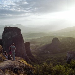 The end of the day at Meteoras (Nobusuma) Tags: hasselblad hasselblad500cm zeissplanar 80mm f28 mediumformat film analog fuji fujiproh160 120 6x6 greece meteora kalampaka sundown sunset hiking ハッセルブラッド 中判写真