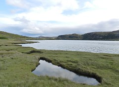 Low Water, Old Tongue Road, Sutherland, Aug 2018 (allanmaciver) Tags: low water loch clouds tongue sutherland north peat soil reflections remote scotland allanmaciver