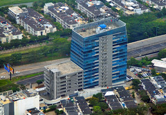Menara Suite PIK (Ya, saya inBaliTimur (leaving)) Tags: jakarta building gedung architecture arsitektur office kantor fotoudara aerialview