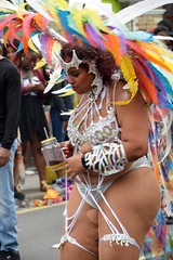 DSC_7958 Notting Hill Caribbean Carnival London Exotic Colourful Silver Costume with Feather Headdress Girls Dancing Showgirl Performers Aug 27 2018 Stunning Ladies Big Beautiful Woman BBW (photographer695) Tags: notting hill caribbean carnival london exotic colourful costume girls dancing showgirl performers aug 27 2018 stunning ladies silver with feather headdress big beautiful woman bbw