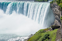 Little People under Horseshoe Falls (mjhedge) Tags: niagarafalls water waterfall ontario mist canada scale oly olympus em1mkiiomdem1markii omdem1mkii getolympus 12100mmf4 12100mm 12100 landscape