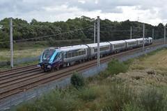 """Transpennine Express Class 68, 60020 """"Reliance"""" & Mk.5A Set TP01 (37190 """"Dalzell"""") Tags: drs directrailservices tpe transpennineexpress northernstar firstgroup vossloh stadler valencia cat class68 caf lhcs locomotivehauledcoachingstock mk5a 5coachrake nova3 68020 reliance tp01 11501 12701 12702 12703 12801 winwickquay winwickjunction warrington"""