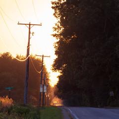 Take me home... (bill.d) Tags: michigan unitedstates us ruralmichigan goldenhour countryroad sunset stjosephcounty threerivers
