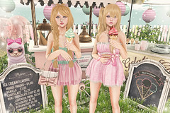 Best Ice cream (Gabriella Marshdevil ~ Trying to catch up!) Tags: sl secondlife cute kawaii doll pastel imeka pinkfuel halfdeer limerence ayashi